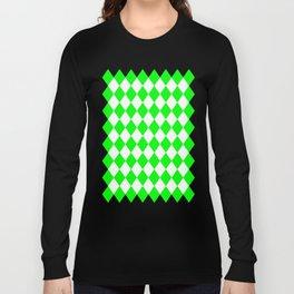 Diamonds (Green/White) Long Sleeve T-shirt