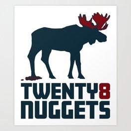 Moose Nuggets Art Print