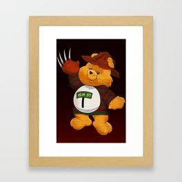 Freddy Scare Bear Framed Art Print