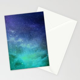 Turquoise Space Stationery Cards