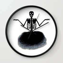 Skeleton Ghost - From Vintage Print Wall Clock