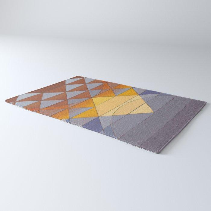 Pyramid Sun Mauve Purple Rug