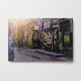 Graffiti Alley 2 Metal Print