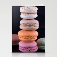 macaroons Stationery Cards featuring Macaroons  by Michael Moriarty Photography