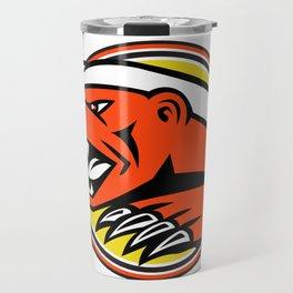Angry Honey Badger Mascot Travel Mug