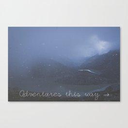 Adventures this way Canvas Print