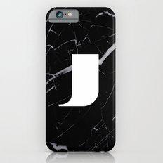 Black Marble - Alphabet J Slim Case iPhone 6s