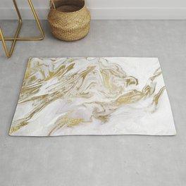 Liquid gold marble II Rug