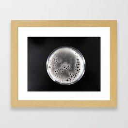 Beer in Black and White Framed Art Print