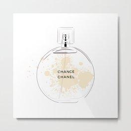 Round Beige Perfume Metal Print