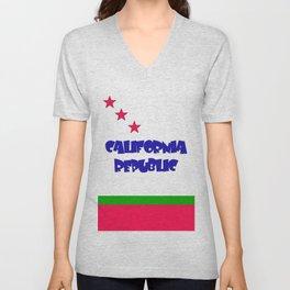 California republic Unisex V-Neck