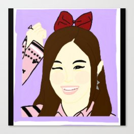Knock Knock! Tzuyu Purple Canvas Print