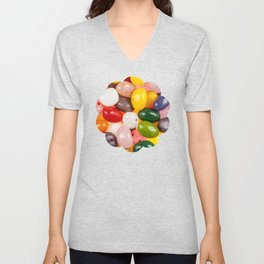 Cool colorful sweet Easter Jelly Beans Candy Unisex V-Neck