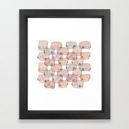 Boobylicious Framed Art Print