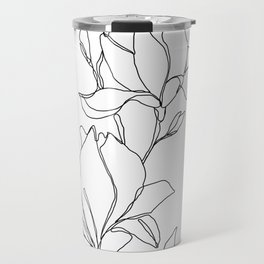 Botanical illustration line drawing - Magnolia Travel Mug