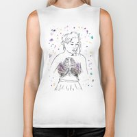 lungs Biker Tanks featuring Lungs by Sarah Hartnell