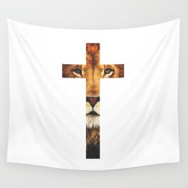 Christian Cross - The Lion of Judah Wall Tapestry