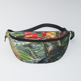 Tropical Heliconia Flowers 03 Fanny Pack