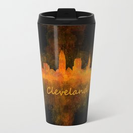 Cleveland City Skyline Hq V4 Travel Mug