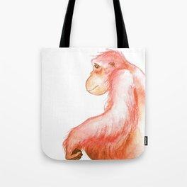 Elka, Orangutan Watercolor Tote Bag