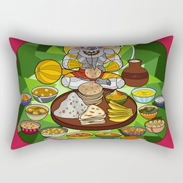 Hanuman's Meal Rectangular Pillow