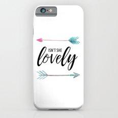 Isn't She Lovely - Watercolor Arrows iPhone 6s Slim Case