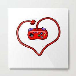 joystick heart Metal Print