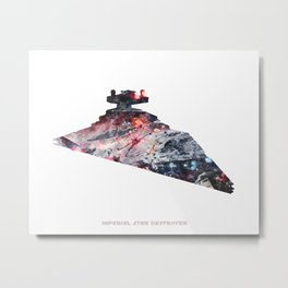 Star War Imperial Star Destroyer - Wall Art, Poster, Print, Watercolor, Fine Art, Series 6 of 6 Metal Print