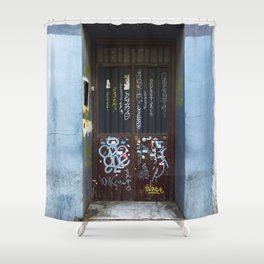 D O O R Shower Curtain