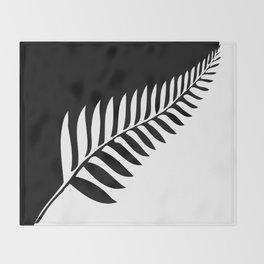 Silver Fern of New Zealand Throw Blanket