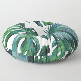 Tropical Palm Leaves Classic II Floor Pillow