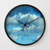 german Wall Clocks featuring German clouds by LoRo  Art & Pictures
