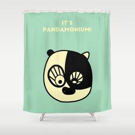 It's Pandamonium Shower Curtain