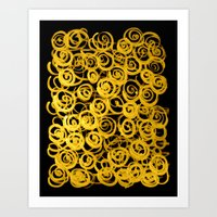 pasta Art Prints featuring pasta by clemm