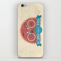 brompton iPhone & iPod Skins featuring Born to Ride by Wyatt Design