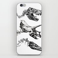 trex iPhone & iPod Skins featuring Jurassic Bloom. by Sinpiggyhead
