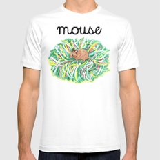 Theatre Mouse MEDIUM Mens Fitted Tee White