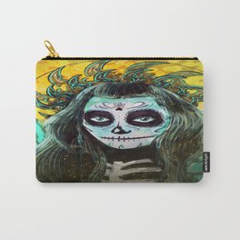 Day of the Dead Bumble Bee Carry-All Pouch