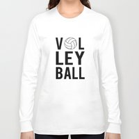 volleyball Long Sleeve T-shirts featuring Volleyball (black) by raineon