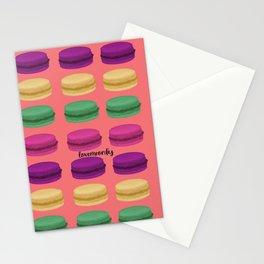 Macaron Pattern Stationery Cards