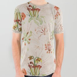 Carnivorous Floral All Over Graphic Tee
