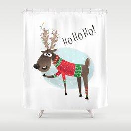 Christmas Reindeer Shower Curtain