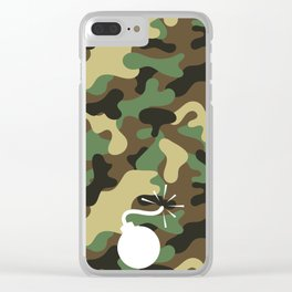CAMO & WHITE BOMB DIGGITY Clear iPhone Case