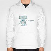 koala Hoodies featuring Koala by Robert Magboo