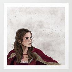 Belle in Winter Art Print