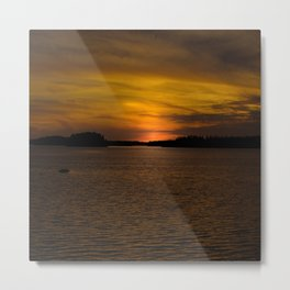 The sun goes down and night falls Metal Print