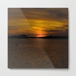 The sun goes down and night falls #decor #society6 #buyart Metal Print