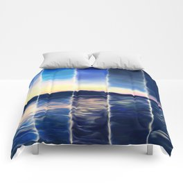 Time Lapse Sunset (painted) Comforters