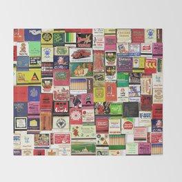 Antique Matchbooks Throw Blanket