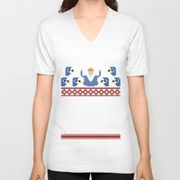 minions V-neck T-shirts featuring Ice King and Minions by paperboyjim